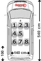 VW Caravelle Sitzaufteilung 8-Sitzer