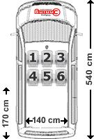 VW Caravelle Sitzaufteilung 6-Sitzer
