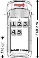 VW Caravelle Sitzaufteilung 5-Sitzer