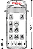 Mercedes Sprinter Sitzaufteilung 9-Sitzer