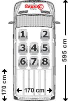 Mercedes Sprinter Sitzaufteilung 8-Sitzer