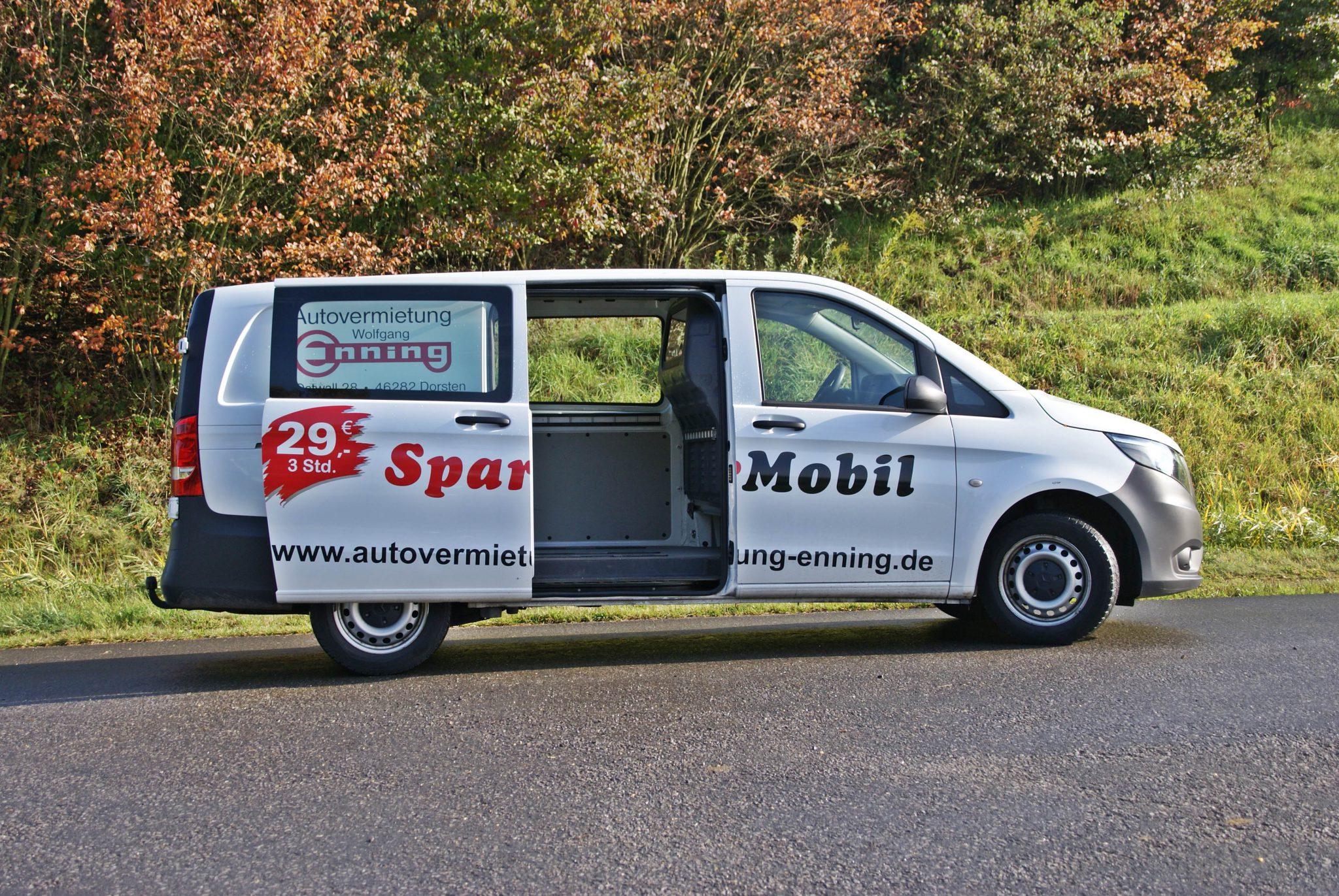 Mercedes Vito Transporter Sparmobil Autovermietung Enning Dorsten