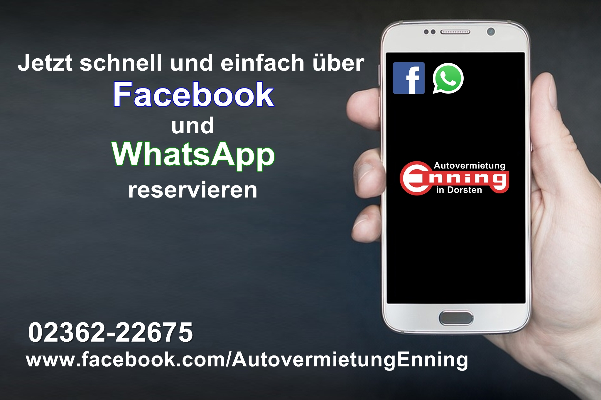 Facebook Whatsapp Enning Rot HP
