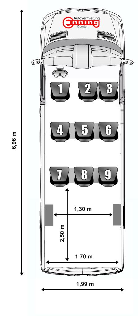 Mercedes Sprinter 9-Sitzer Dorsten Autovermietung Enning