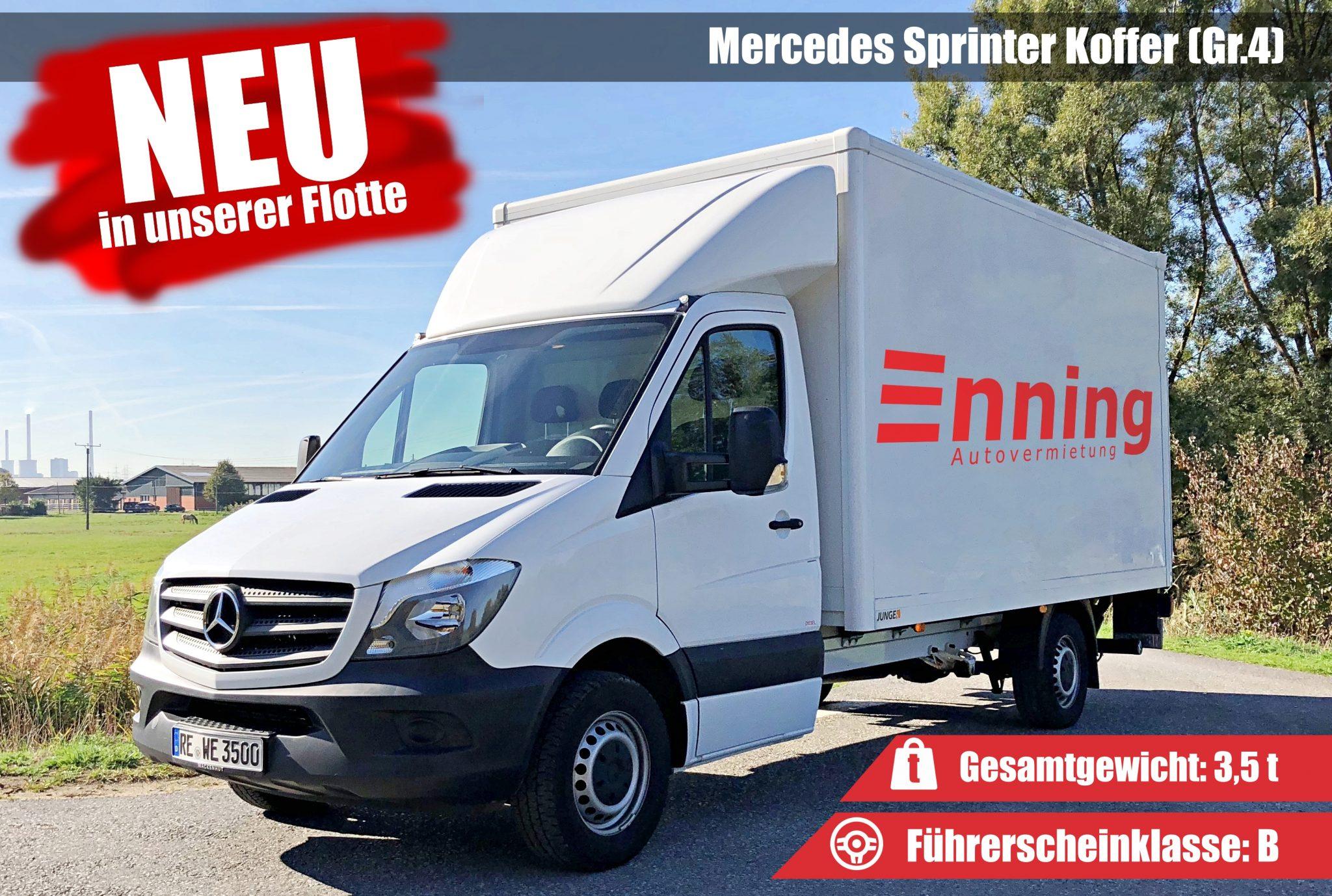 Sprinter 3,5t Facebook SparMobil Transporter Mercedes Sprinter Autovermietung Enning Dorsten