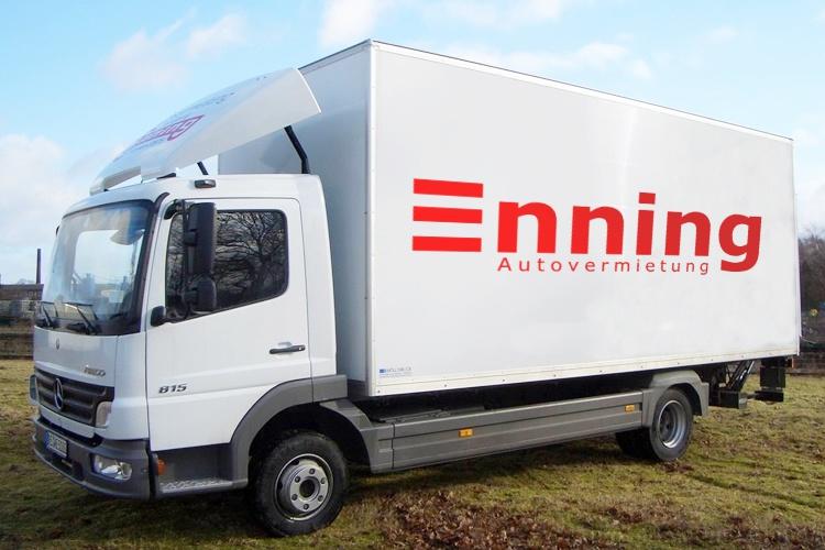 Atego LKW 7,5 tonner Transporter Autovermietung Enning Dorsten
