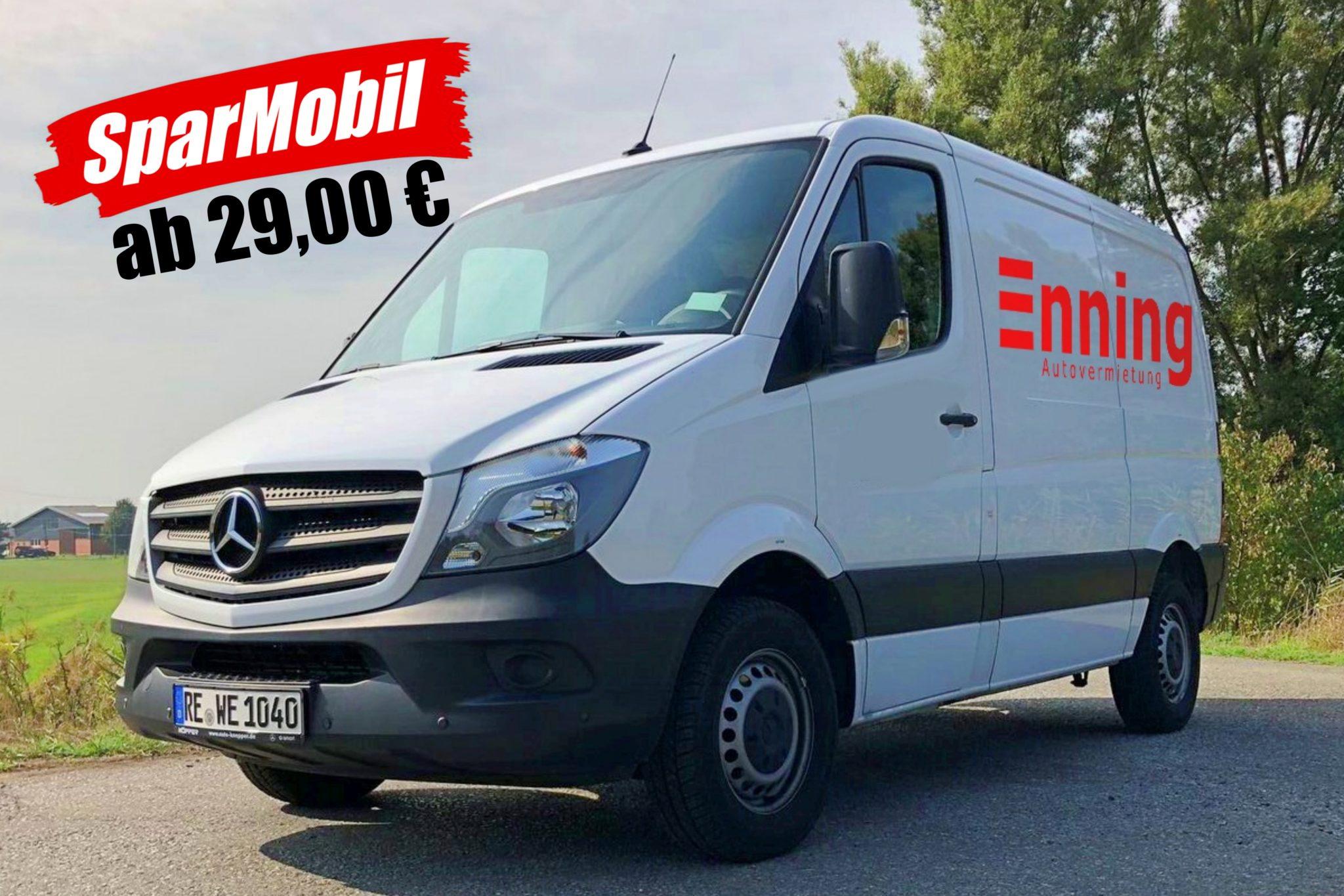 Transporter Sparmobil 2 Mercedes Benz Sprinter Mittel Autovermietung Enning Dorsten